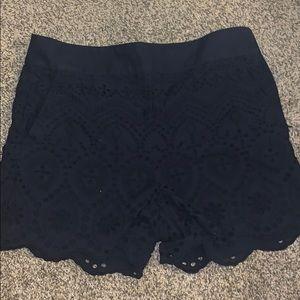 LOFT Shorts - Ann Taylor Loft Navy Scalloped shorts
